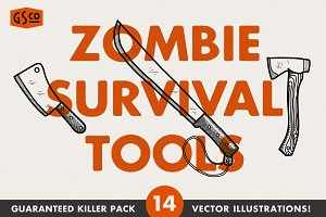 Zombie Survival Tools - Vector pack