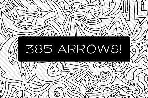 385 Hand Drawn Vector Arrows