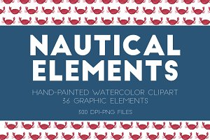 Nautical Watercolor Elements