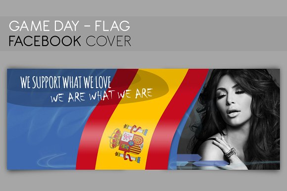 FACEBOOK COVER flag - Game day