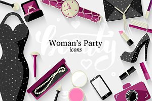 **Women's style** vector icons