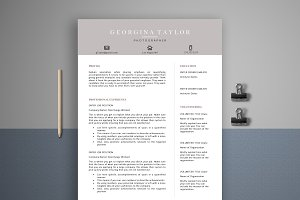 Resume Template 4 Page | Artist CV