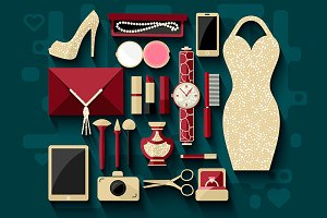 *Women's style* vector icons