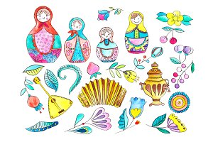 Matryoshka Russian Doll Clipart PNG