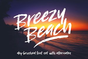 Breezy Beach: dry brush font