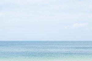 Sea and sand beach