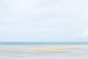 Sea and sand beach.