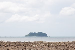 Island and beach sand