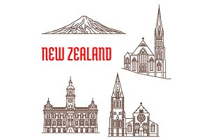 Travel landmarks of New Zealand