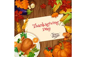 Thanksgiving holiday poster