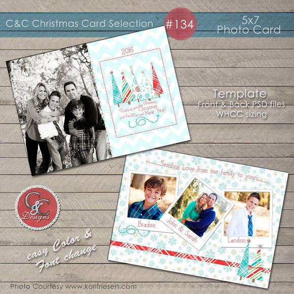 Christmas Photo Card Selection #134 in Card Templates
