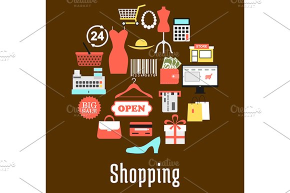 Shopping And Retail Commerce Icons
