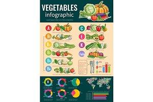 Vegetables infographics design