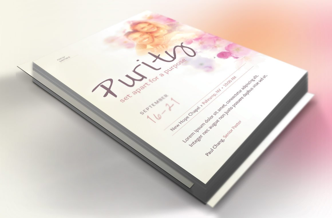 Purity Church Flyer Template ~ Flyer Templates ~ Creative Market