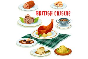 British cuisine menu