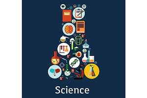 Science research icons