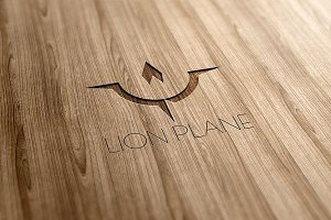 Lion Plane Logo Design