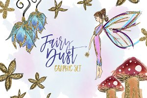 Glitter Fairy Clipart