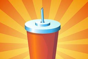 Cartoon vector drink icon