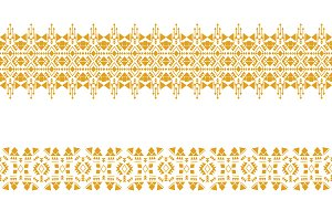 Golden seamless border pattern