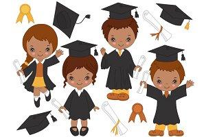African American Kids Graduating