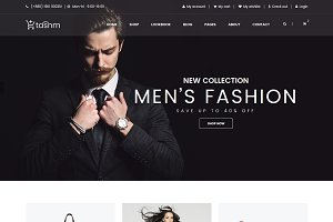 Tasnm – eCommerce bootstrap template