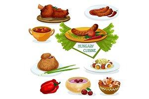 Hungarian cuisine menu