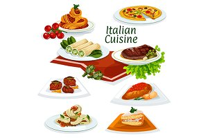 Italian national cuisine dishes