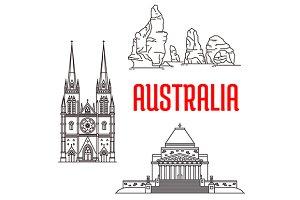 Travel landmarks of Australia
