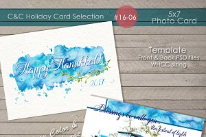 Hanukkah Photo Card 16-06
