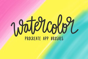 Procreate Watercolor 4-Brush Bundle