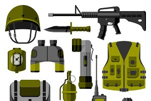 Weapon guns symbols vector