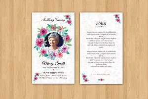 Funeral Prayer Card Template-V615