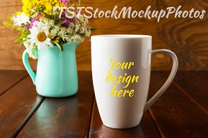Coffee latte mug mockup