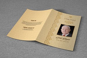 Funeral Program Template-T616