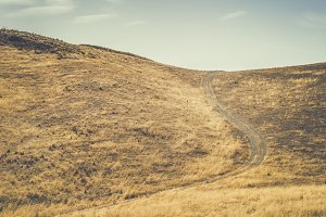 Vintage dirt road