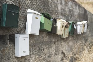 Various mailboxes.