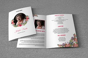 Funeral Program Template-T617