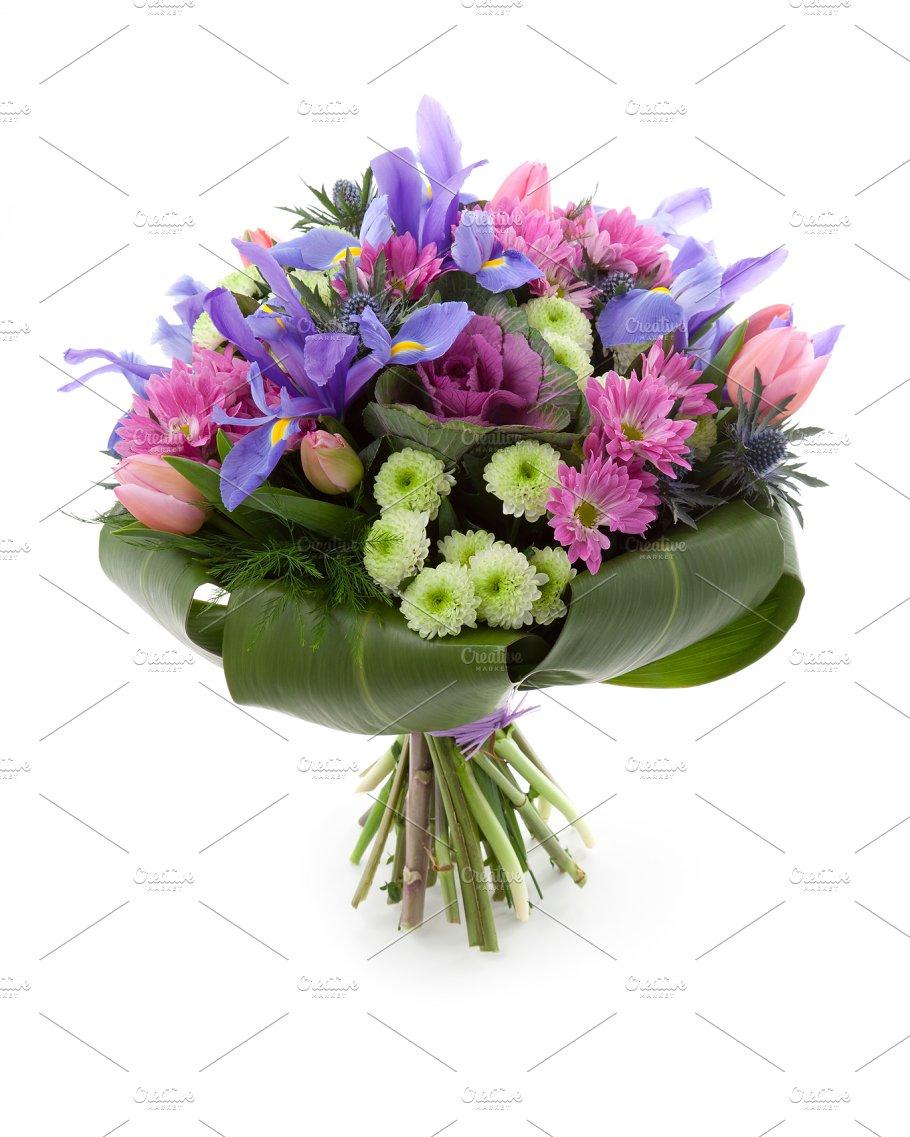 Iris flowers bouquet photos creative market iris flowers bouquet photos izmirmasajfo