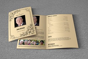 Funeral Program Template-T618