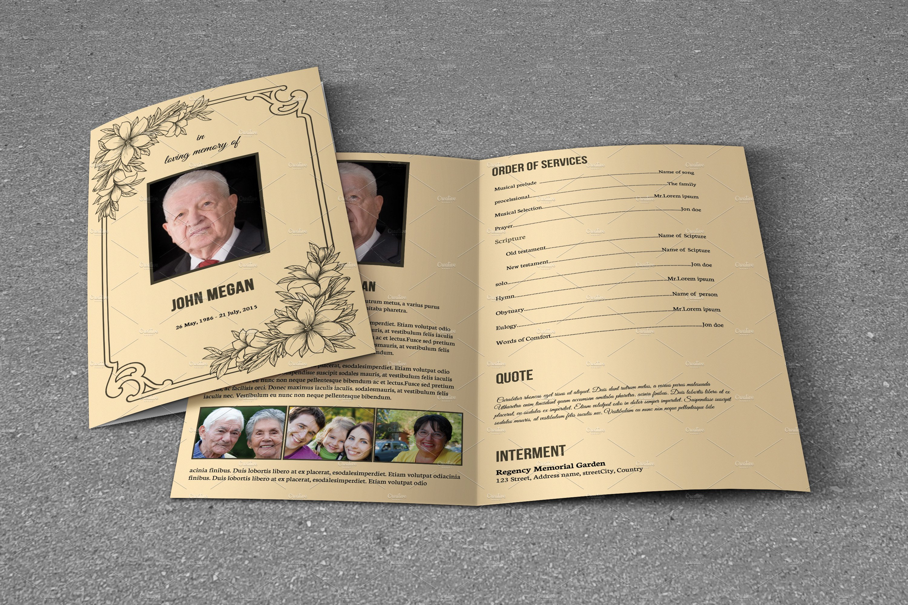 funeral leaflet template free - funeral program template t618 brochure templates