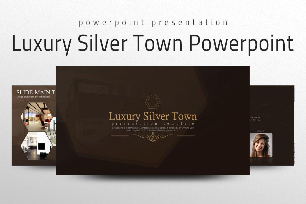 Luxury silver town powerpoint presentation templates creative market toneelgroepblik Images