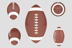 American Football Ball Set