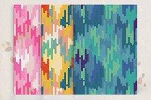 Seamless pattern retro set