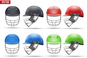 Cricket Helmets Set