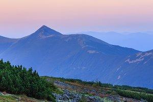 Sunrise Carpathian panorama
