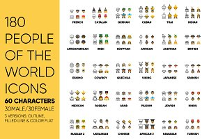 180 People of the world ICONS