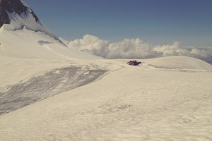 Snowcat on Eiger Glacier