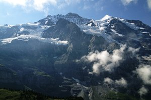 Eiger in Swiss Alps