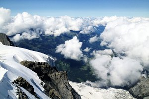 View from Eiger Glacier
